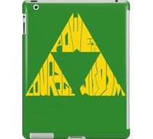 Triforce SoLo (You Chose Your Background Color) iPad Case/Skin