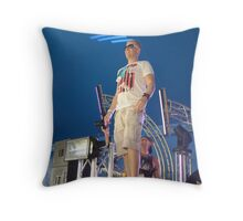 Radiating music to the world Throw Pillow