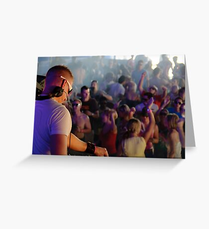 Entertaining a festival crowd Greeting Card