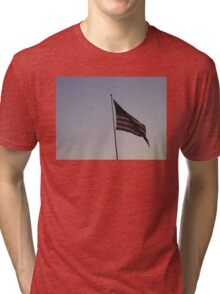 Patriotic American Flag Tri-blend T-Shirt