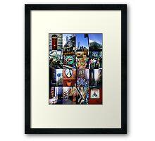 melbourne by mobile Framed Print