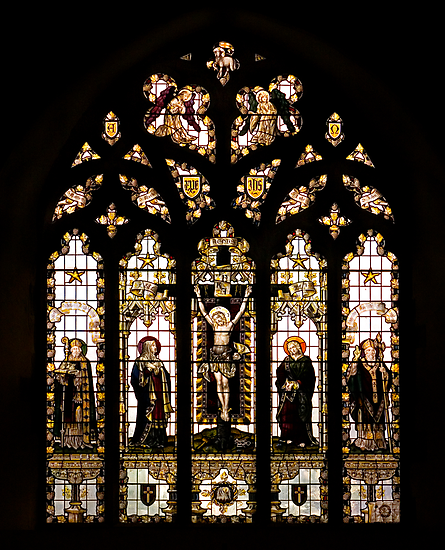 Stained Glass at St.Nicholas at Wade by Geoff Carpenter