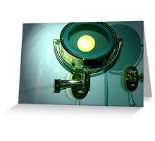 BATHROOM LAMP Greeting Card
