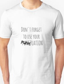 PUNKtuation Text  Unisex T-Shirt