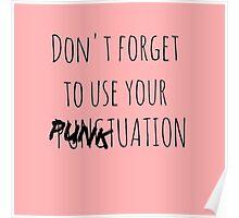 PUNKtuation Text  Poster