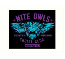 Nite Owls Social Club Art Print