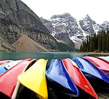 Colorful Canoes - Lake Moraine - Banff National Park by paolo1955