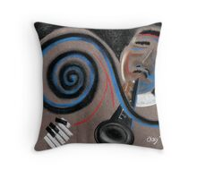 Jazzy day Throw Pillow