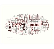 President Obama's Inauguration Speech Art Print