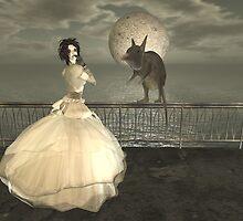 Moonset by AshLeShelle
