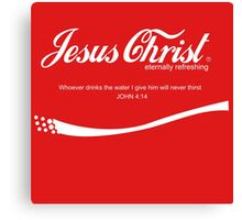 Jesuc Christ - Coca Cola Canvas Print