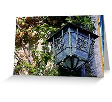 Wrought Iron & Carved Glass Greeting Card
