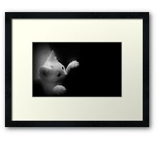 Peekin` The Boo Framed Print