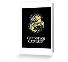 Hufflepuff Quidditch Captain Greeting Card