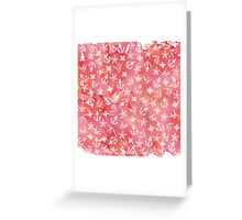Cute Nautical Anchor Pattern on Pink Watercolor Greeting Card