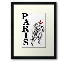 Just Love Paris Framed Print