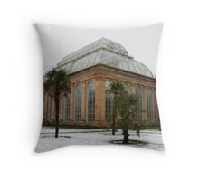 Temperate Palm House in Edinburgh's Botanic Gardens Throw Pillow