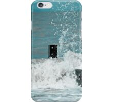 Crashing waves at Fleetwood, Lancashire iPhone Case/Skin
