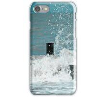 Crashing waves at Fleetwood, Lancashire iPhone Case/Skin