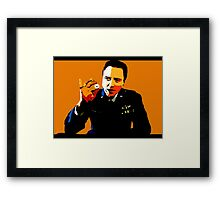 the gold watch Framed Print