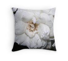ROSE IN WHITE Throw Pillow