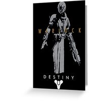 Destiny Warlock Action figure Greeting Card