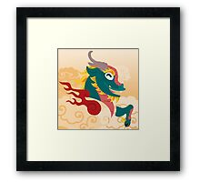 Silly beasty: Kirin Framed Print