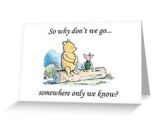 "Keane ""Somewhere Only We Know"" Greeting Card"