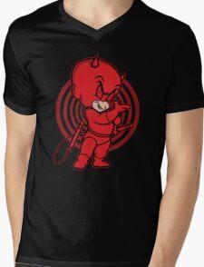 Blind Red Devil Mens V-Neck T-Shirt