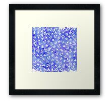 Cute Nautical Anchor Pattern on Blue Watercolor Framed Print