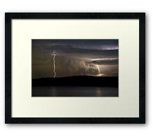 Double Strike. Framed Print