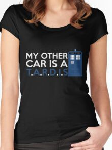 My Other Car is A TARDIS Women's Fitted Scoop T-Shirt