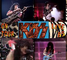 '85 KISS Concert Poster by KirneH001