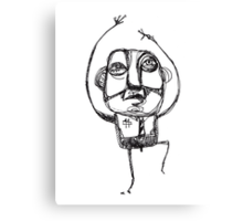 Dancing Office Man Canvas Print