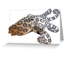 Blue-Ringed Octopus Color Greeting Card