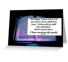 Christ has Overcome! Greeting Card