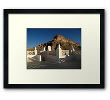 Chiseled vs Raw Framed Print