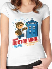 Super Doctor Who Women's Fitted Scoop T-Shirt