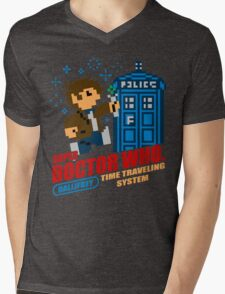 Super Doctor Who Mens V-Neck T-Shirt