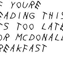 Drake McDonalds Album by MicaelaD13