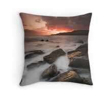 Fiery Sky Milky Sea Throw Pillow