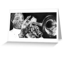 Portrait of Louie Armstrong Greeting Card