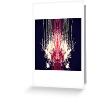 Pink and Navy Blue Abstract Watercolor Paint Drips Greeting Card
