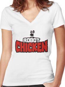 Robot Chicken Women's Fitted V-Neck T-Shirt