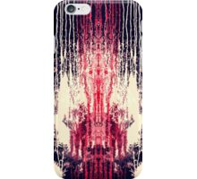 Pink and Navy Blue Abstract Watercolor Paint Drips iPhone Case/Skin