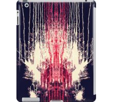 Pink and Navy Blue Abstract Watercolor Paint Drips iPad Case/Skin
