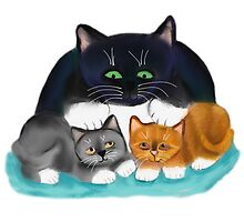 OK You Two Meows Mother Cat by NineLivesStudio