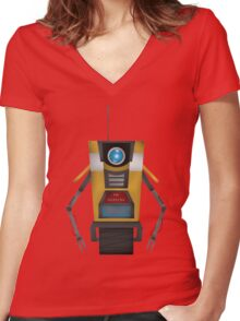 CL4P-TP Women's Fitted V-Neck T-Shirt