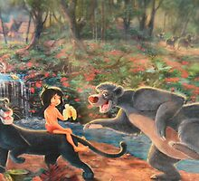 Disney Jungle Book Disney Baloo Bear Disney Mowgli  by notheothereye