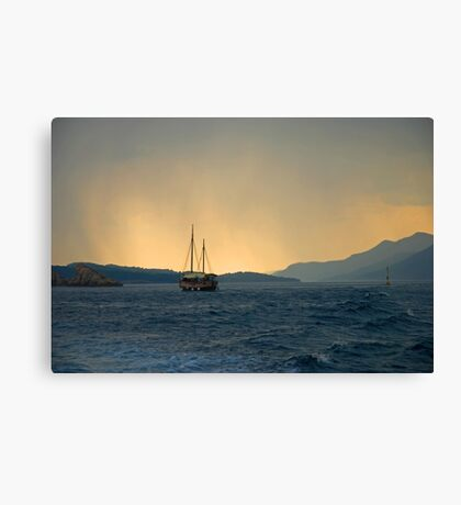 Against the storm Canvas Print